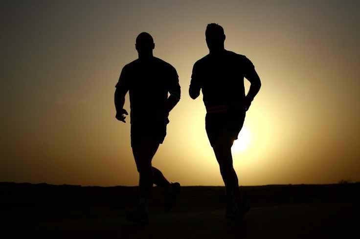 sunset men sunrise jogging